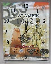 Orologio da Parete Vetro/Legno EL ALAMEIN 1942 PARACADUTISTI FOLGORE (Mod. MAXI)