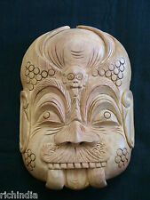 Wood Mask 'Protector' wooden Handicraft,Handmade,Home decore,gift,India art