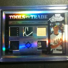 2004 Absolute Tools Of The Trade Five Glove Hat Bat Jersey Shoe Tim Hudson 1/5