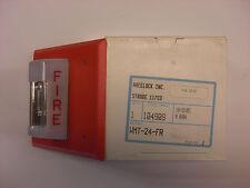 New WMT-24-FR Red Wall Strobe Light, Fire Alarm, Cooper Wheelock Strobe 117CD
