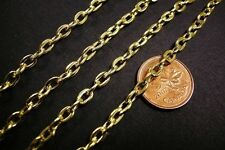 5 feet 6x4mm gold finish unsoldered chain-2621
