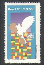 Brazil 1985 Dove/Flags/UN/Birds/Animation/United Nations 1v (n38278)