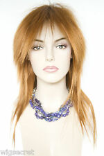 Dark Chocolate with Russet tips Red Long Straight Costume Fun Color Wigs