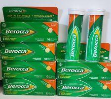 Berocca Orange Flavor Effervescent Tablets, total of 80 tablets