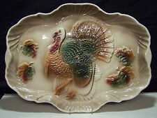 Vintage Lane & Co Ceramic Turkey Platter Van Nuys California Pottery 1959