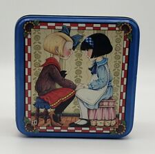 """Vintage Mary Engelbreit Square Tin, """"I'd Like To Be The Sort of Friend."""" 90's"""