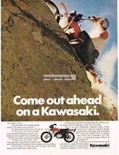 1972 Kawasaki F7 Enduro 175cc Motorcycle Trail Bike Vtg Print Ad