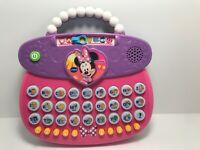 VTech Minnie Mouse ABC Fashion Purse Electronic Alphabet Learning Toy -Excellent