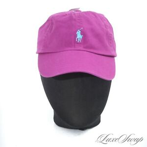 NWT Polo Ralph Lauren Fuschia Magenta Garment Washed Dad Baseball Hat Cap NR