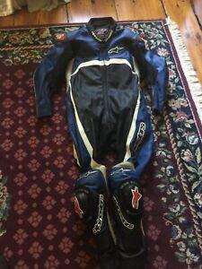 Alpinestars Leather Racing Suit US 46 /  EU 56 Blue Black