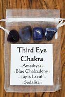 Third Eye Chakra Crystal Set Lapis Lazuli Amethyst Sodalite Chalcedony Reiki
