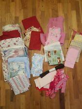 Huge Mixed Fabric Lot 10+ Lbs Cotton, Corduroy, Fleece Linen Poly
