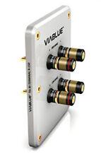 1 Stück Viablue R-150 silber / HighEnd >>Bi-Wire-Terminal<< / T6s Polklemmen