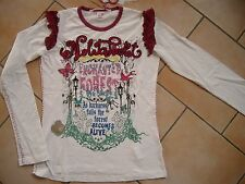 (24) Nolita Pocket Girls Langarm Shirt + Logo Stickerei + Druck & Besatz gr.128