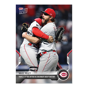 Wade Miley - 2021 MLB TOPPS NOW® Card 182 TWIRLS 17TH NO HITTER IN REDS HISTORY
