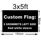 Custom Personalise Flag Banner Full Color 3x5FT 150x90CM Polyester,free shipping
