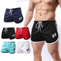 Mens Sports Workout Shorts Basketball Gym Running Swimming Beach Mesh Underwear
