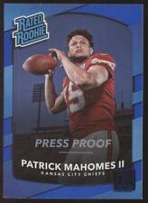 2017 Panini Donruss Patrick Mahomes II Press Proof Blue RC Rookie