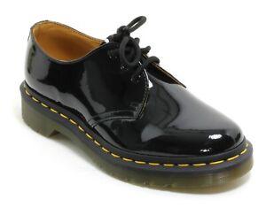 Schnürschuhe Damenschuhe Lack Leder Boots Dr. Martens AirWair Schwarz 36