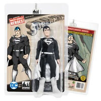 DC Comics Retro 8 Inch Action Figure Series: Superman (New Head) [Black Outfit]