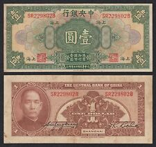 China - 1 Dollar  1928  Pick 195c  BC+ = F+
