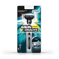 Gillette Mach3 Razor Handle Safety 1 Pre-loaded Cartridge Mach 3 Classic New