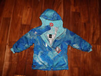 NWT Girls ZeroXposur Blue Sky Full Zip Snow Jacket Coat Size 5/6 $135