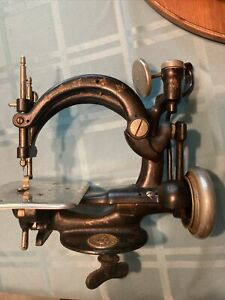 Antique National Sewing Machine Company B. Eldredge Automatic Cast Iron vtg