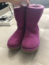 UGG Australia Toddler Girls Classic Short Size 6 Or 36 Boots 5251Y Pink Purple