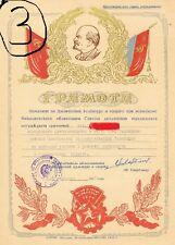 USSR CCCP COMUNISMO SCELTA DIPLOMI MERITO MILITARE CROCE ROSSA SPORTIVI ECC URSS