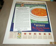 HURFF SOUPS<1937>-{Original Product Ad-<5-17-1937>}-[HURFF VEGETABLE SOUP]