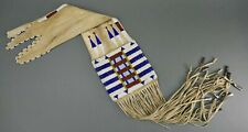 Antique Northern Cheyenne Plains Indian Brain Tanned Glass Beaded Pipe Bag