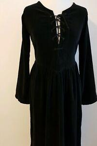 Leonado Carbone Kleid schwarz Mittelalter Gr.M Schnürkleid