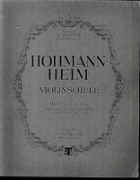 Hohmann - Heim : Violinschule Heft 1, alt, übergroß