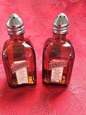 Pair COINTREAU Liqueur Mini Liquor 50ml Bottles UpCycled SALT PEPPER Shakers