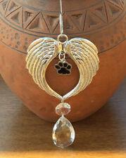 Angel Wings Pet Memorial Loss Paw Sun Catcher Rainbow 🌈 Bridge Caring Gift