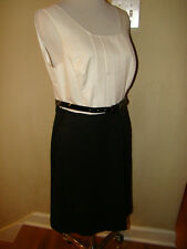 THE LIMITED BLACK WHITE BELTED BUSINESS DRESS SIZE 10 *NEW WITH TAGS !! $$