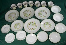 22 Pc Corelle STRAWBERRY SUNDAE Lot 4 Dinner + 2 Lunch Plates, 2 Cereal Bowls+