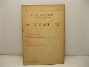 Ufficio di operazioni. Notizie militari. La battaglia dell'Aisne