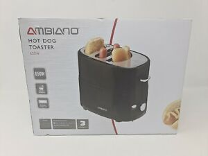 BRAND NEW Ambiano Hot Dog Toaster 650W Black Small Compact Ideal Quick Snack