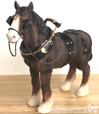 Shire Cart Heavy Horse in harness ornament figurine quality Leonardo, gift boxed