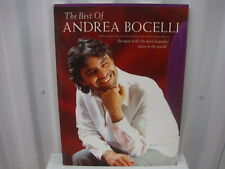 Andrea Bocelli The Best of Sheet Music Song Book Songbook
