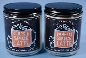 2 Bath Body Works Candle Jars NEW Pumpkin Spice Latte