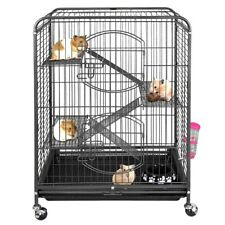 "Ferret Cage Chinchilla Rat Cage Small Animal House 37"" 4 Levels with Wheels"