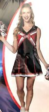Cheerleader Costume Adult Medium 8–10 Women's Halloween Cosplay Pom's Dress Bow