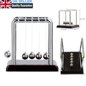 Newtons Cradle Steel Balance Balls Pendulum Desk Physics Science Toy Decor UK