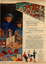 1964 ADVERT 3 PG Doll House Furniture Family Magnetic Formex 7 Casting Set