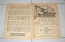 Spartito IL MANDOLINO 1900 AL MERITO Liprandi chitarra Liberty mandolin