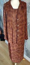 Hamells Brown Leopard Print Long Calf lenth Dress Sheer Long  Shirt Suit Size 14