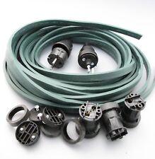 IKu ® Illu Lichterkette E 27  Bausatz 25 Meter 20 Fassungen dunkelgrünes Kabel
